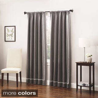 Roxbury Park Baratto Triple Striped Linen Curtain Panel