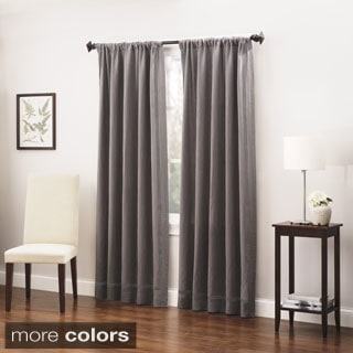 Roxbury Park Linen Triple Baratto Stitch Curtain Panel