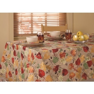 Scattered Leaves Microfiber Tablecloth
