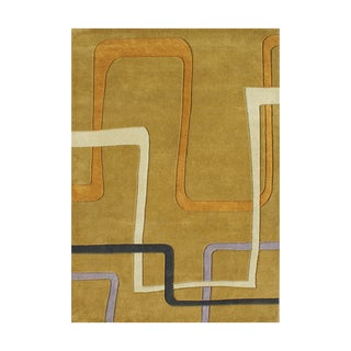Handmade Metro Honey New Zealand Blend Wool Rug (9' x 12')