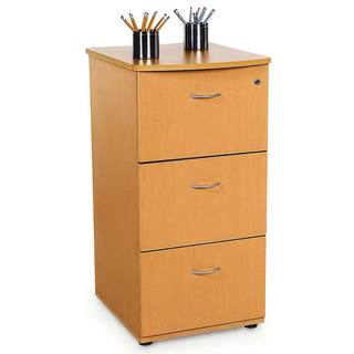 Maple Finish 3-drawer File Cabinet