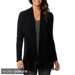 Ply Cashmere Women's Long Sleeve Draped Cashmere Cardigan