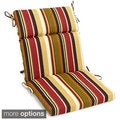 Blazing Needles 42-inch by 20-inch Patterned Outdoor Spun Poly Three-Section Back/Seat Chair Cushion