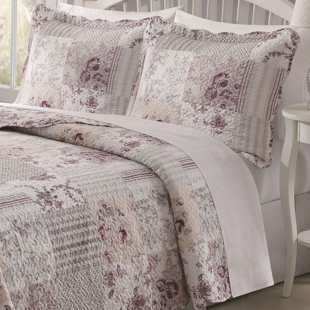 Audrey 3-piece Patchwork Quilt Set