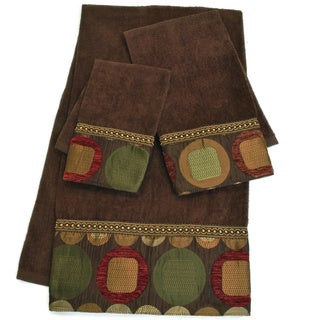 Sherry Kline Metro Brown Embellished 3-piece Towel Set