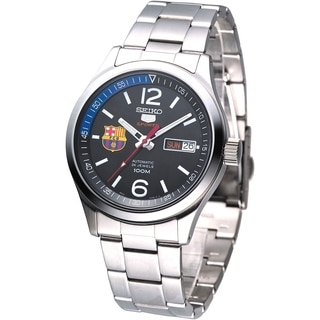 Seiko Men's '5 Sports FC Barcelona' Automatic Watch