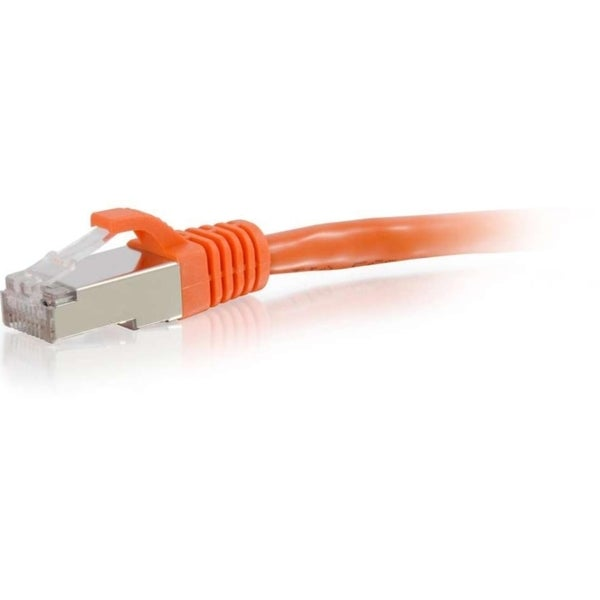 C2G 12ft Cat6 Snagless Shielded (STP) Network Patch Cable - Orange