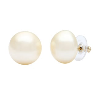 Kenneth Jay Lane Goldtone Cream Faux Pearl Clip Earrings