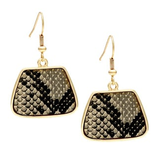 Kenneth Jay Lane Goldtone SNWE Snake Earrings