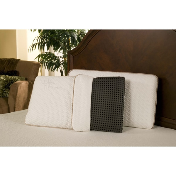 Sleep Zone Black Diamond Ventilated Memory Foam Pillow