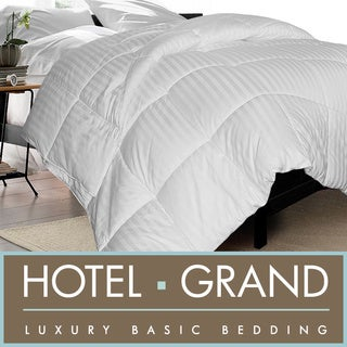Hotel Grand 350 Thread Count White Goose Down Comforter