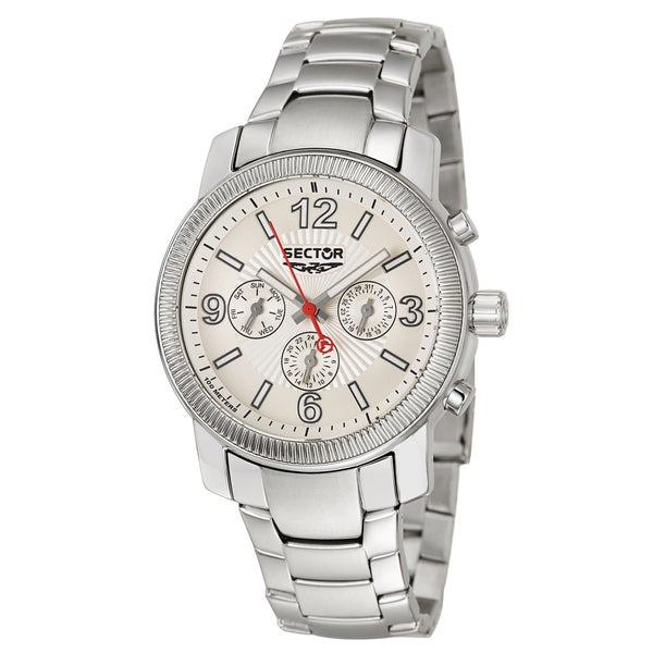 Sector Men's 'Action' Stainless Steel Two Time Zones Watch