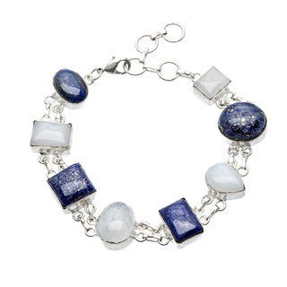 Sitara Handmade Silverplated Multi-Gemstone Bracelet (India)