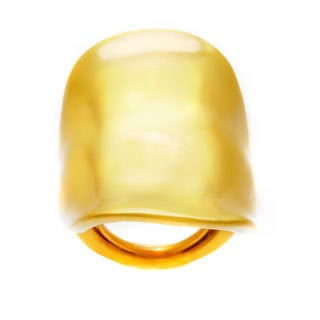 Kenneth Jay Lane Goldtone Satin Ring