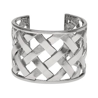 Kenneth Jay Lane Silver Basket Weave Cuff
