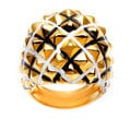Kenneth Jay Lane Goldtone Quilted High Polish Ring