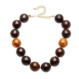 Kenneth Jay Lane Large Brown Bead Necklace