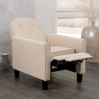 Christopher Knight Home Johnstown Beige Tufted Fabric Recliner