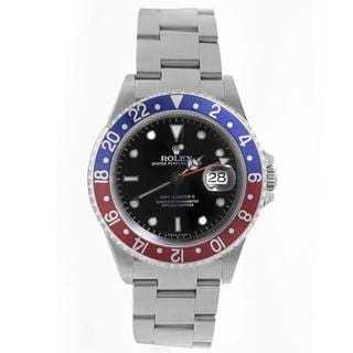 Pre-owned Rolex Mens GMT 2 Red/ Blue Bezel Automatic Watch