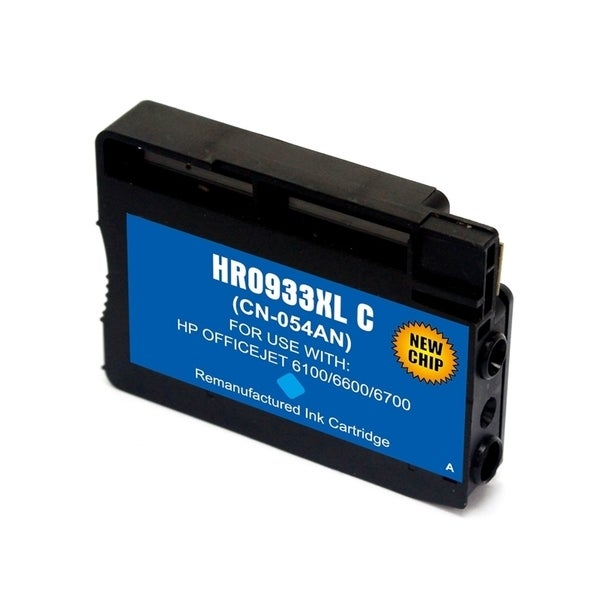 INSTEN HP 933XL Cyan Ink Cartridge (Remanufactured)