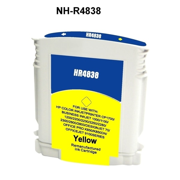 INSTEN HP 11 Yellow Ink Cartridge (Remanufactured)