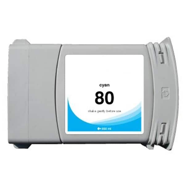 INSTEN HP 80 Cyan Ink Cartridge (Remanufactured)