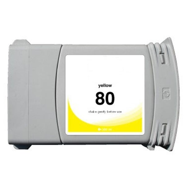 INSTEN HP 80 Yellow Ink Cartridge (Remanufactured)