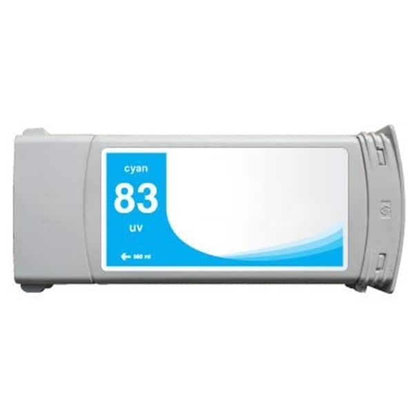 INSTEN HP Designjet 5000/ 5500 Cyan Pigment Ink Cartridge (Remanufactured)