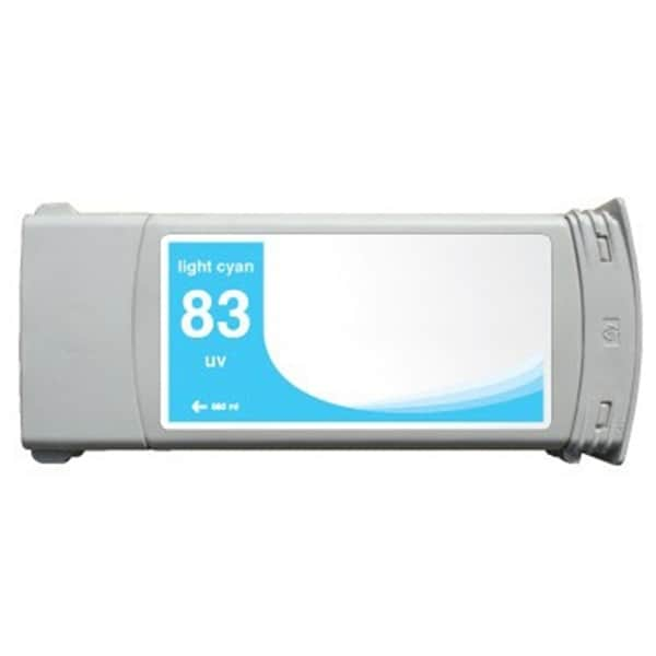 INSTEN HP 83 Light Cyan Pigment Ink Cartridge (Remanufactured)