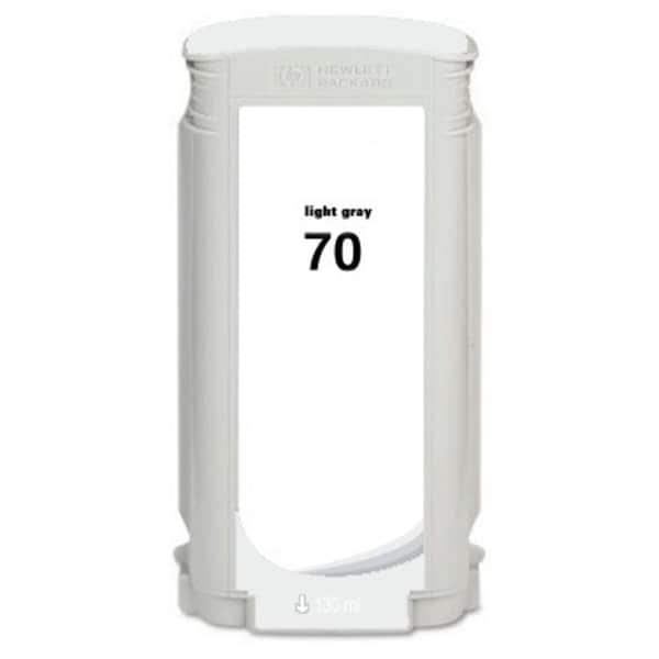 INSTEN HP 70 Light Grey Pigment Ink Cartridge (Remanufactured)