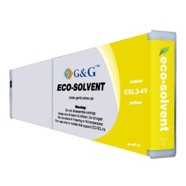 INSTEN Roland ESL3-4 Compatible Yellow Eco-sol Max Ink Cartridge