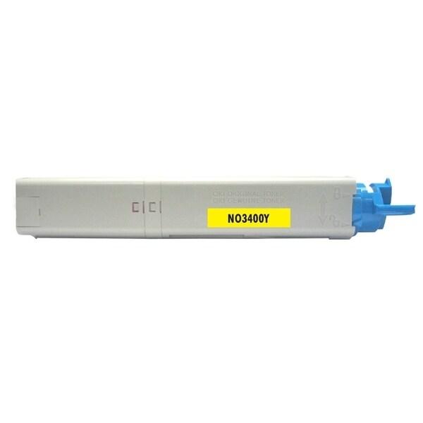 Insten Premium Yellow Color Toner Cartridge 43459301 for OKI C3300/ C3400C3520