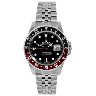 Pre-owned Rolex Mens GMT 2 Black/ Red Bezel Automatic Watch