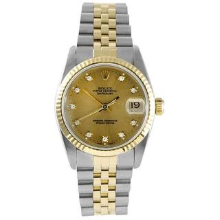 Rolex Men's Datejust Diamond-accented Automatic Watch