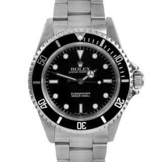 Pre-owned Men's Rolex Submariner Automatic Black Dial Watch