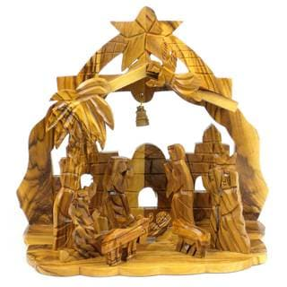 Handmade Church in the Back Olive Wood Nativity (West Bank)