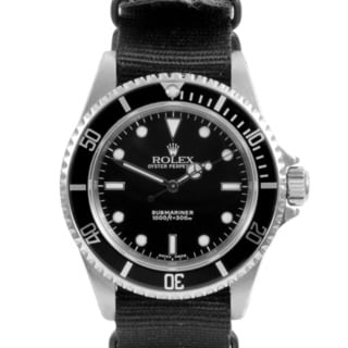 Pre-owned Rolex Mens Submainer NATO Strap Automatic Watch
