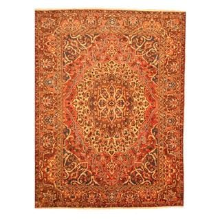 Persian Hand-knotted Tribal Bakhtiari Red/ Burgundy Wool Rug (9'3 x 12'5)