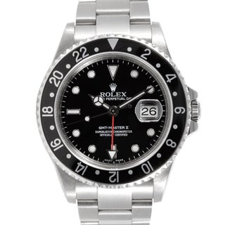 Pre-owned Rolex Mens GMT 2 Black Dial Automatic Watch