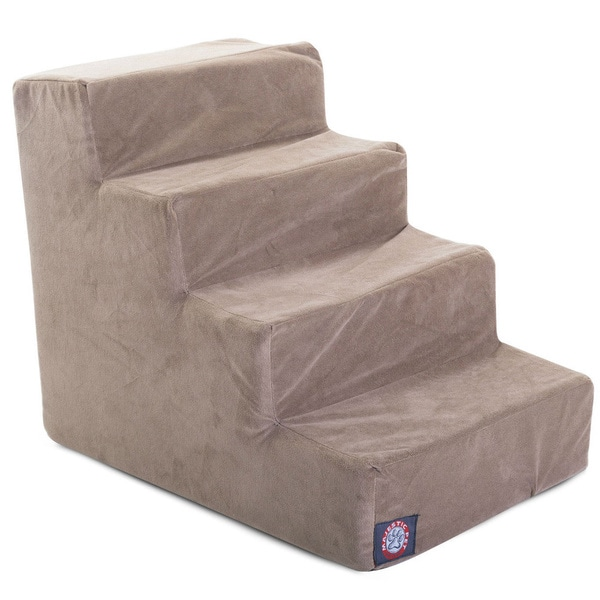 Majestic Pet 4-step Suede Pet Stairs