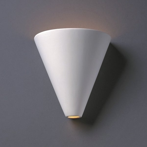 Justice Design Group 1-light Cut Cone Ceramic Sconce