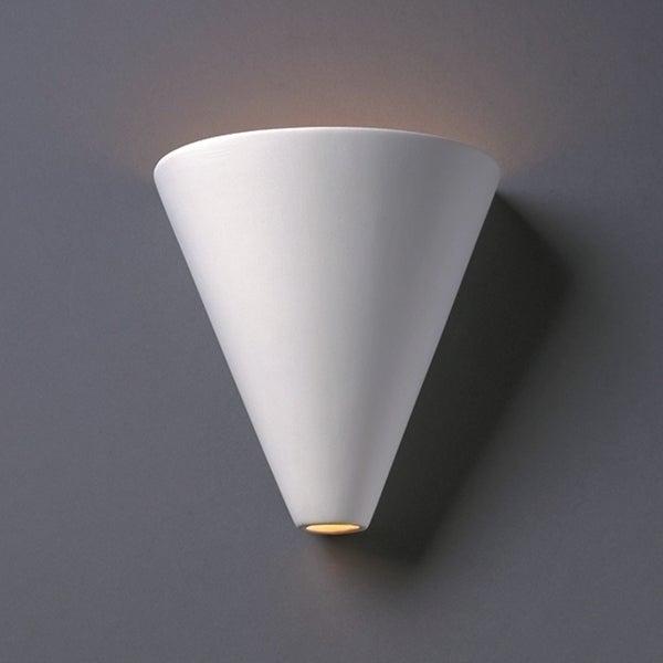 Justice Design Group 1-light Cut Cone Ceramic Sconce