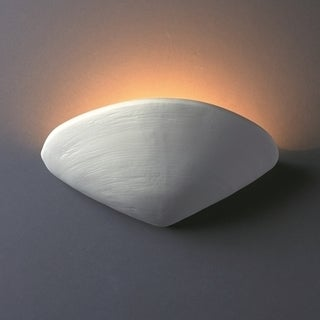 1-light Clam Shell Ceramic Sconce