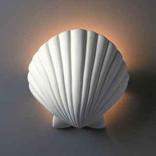 1-light ADA Scallop Shell Ceramic Sconce