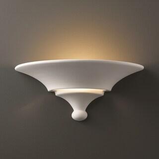 Justice Design Group 1-light Landis Ceramic Sconce