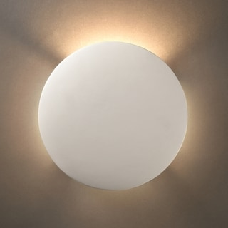 Justice Design Group 1-light ADA Circle Ceramic Sconce