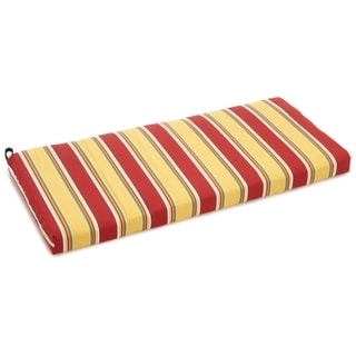Blazing Needles Tropical/ Stripe 48 x19-inch Outdoor Spun Poly Bench/Loveseat Cushion