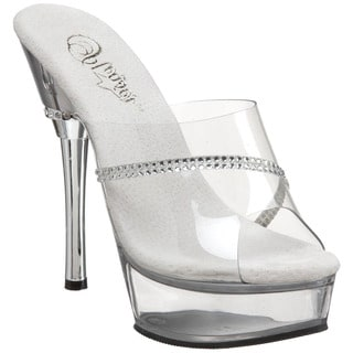Pleaser Women's 'Allure-601R' Clear Stiletto Sandals