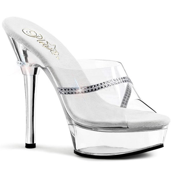 Pleaser Women's 'Allure-601R' Clear Stiletto Sandals