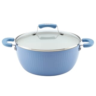 Paula Deen Savannah Collection Blueberry Aluminum Nonstick 5.5-Quart Covered Casserole